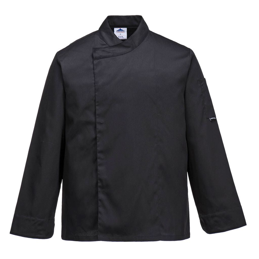 Cross Over Chef Jacket C730 Black
