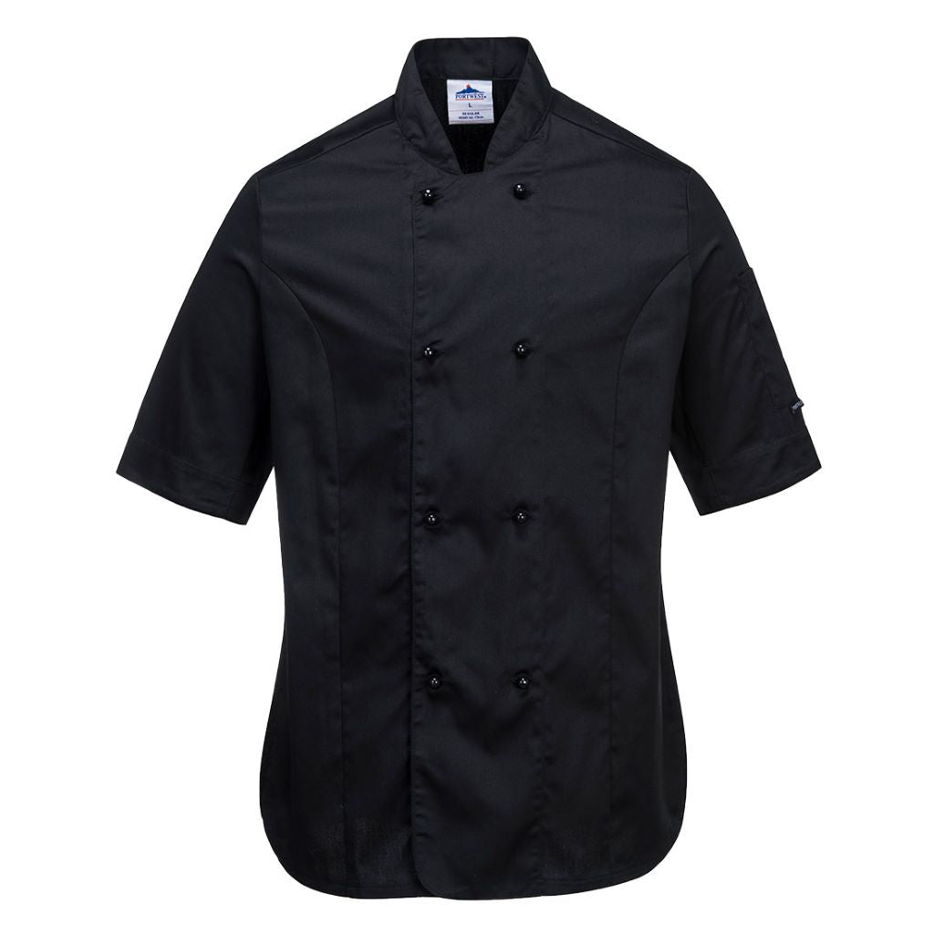 Rachel Chef Jacket  S/S C737 Black