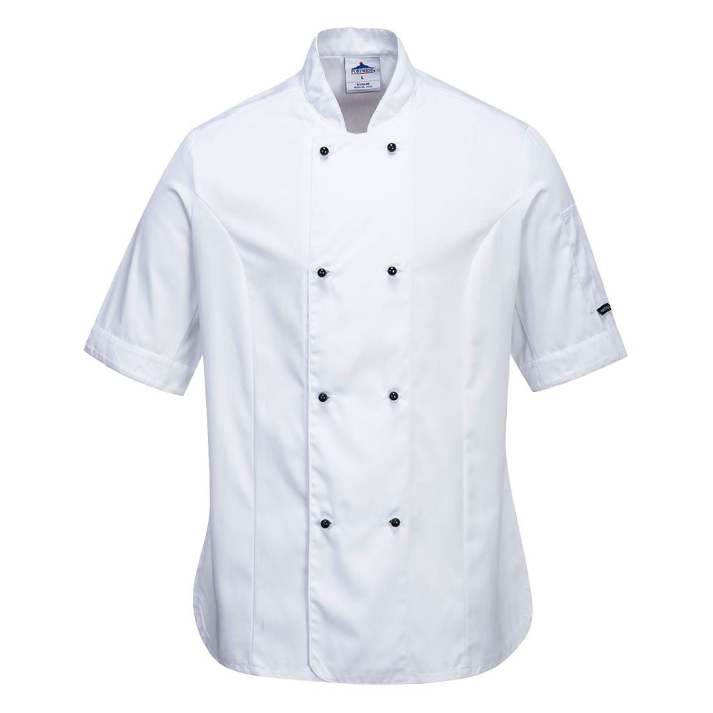 Rachel Chef Jacket  S/S C737 White