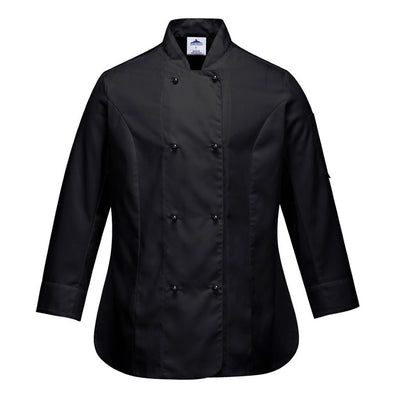 Rachel Chef Jacket  L/S C837 Black