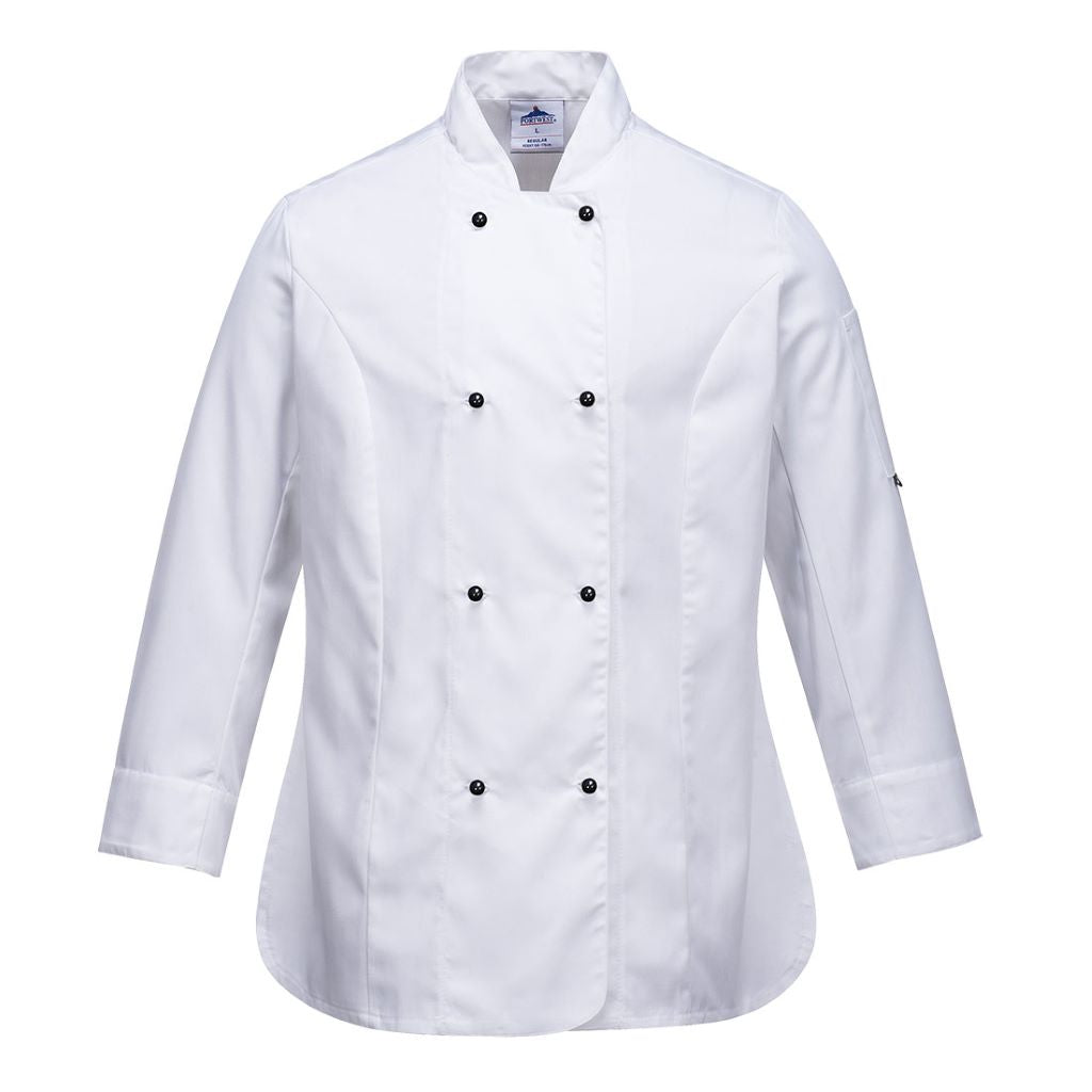 Rachel Chef Jacket  L/S C837 White