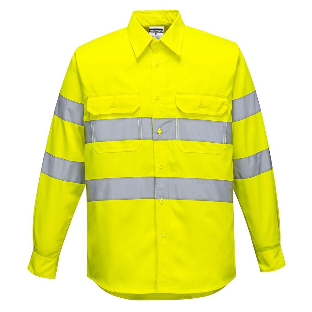 Hi-Vis Work Shirt E044 Yellow