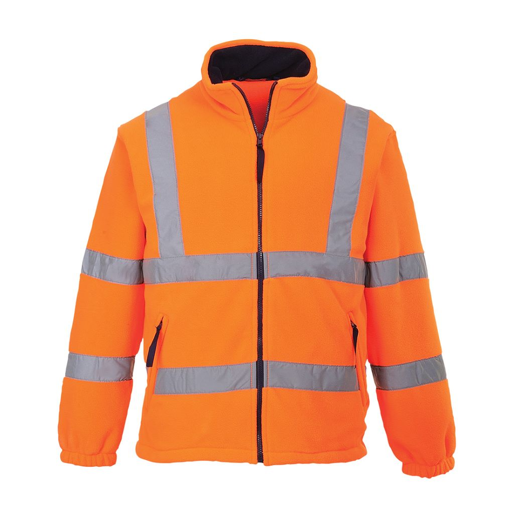 Hi-Vis Mesh Lined Fleece F300 Orange