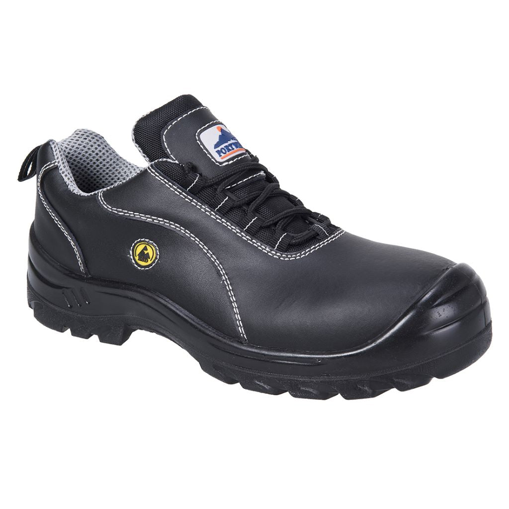 ESD Leather Safety Shoe  S1 FC02 Black