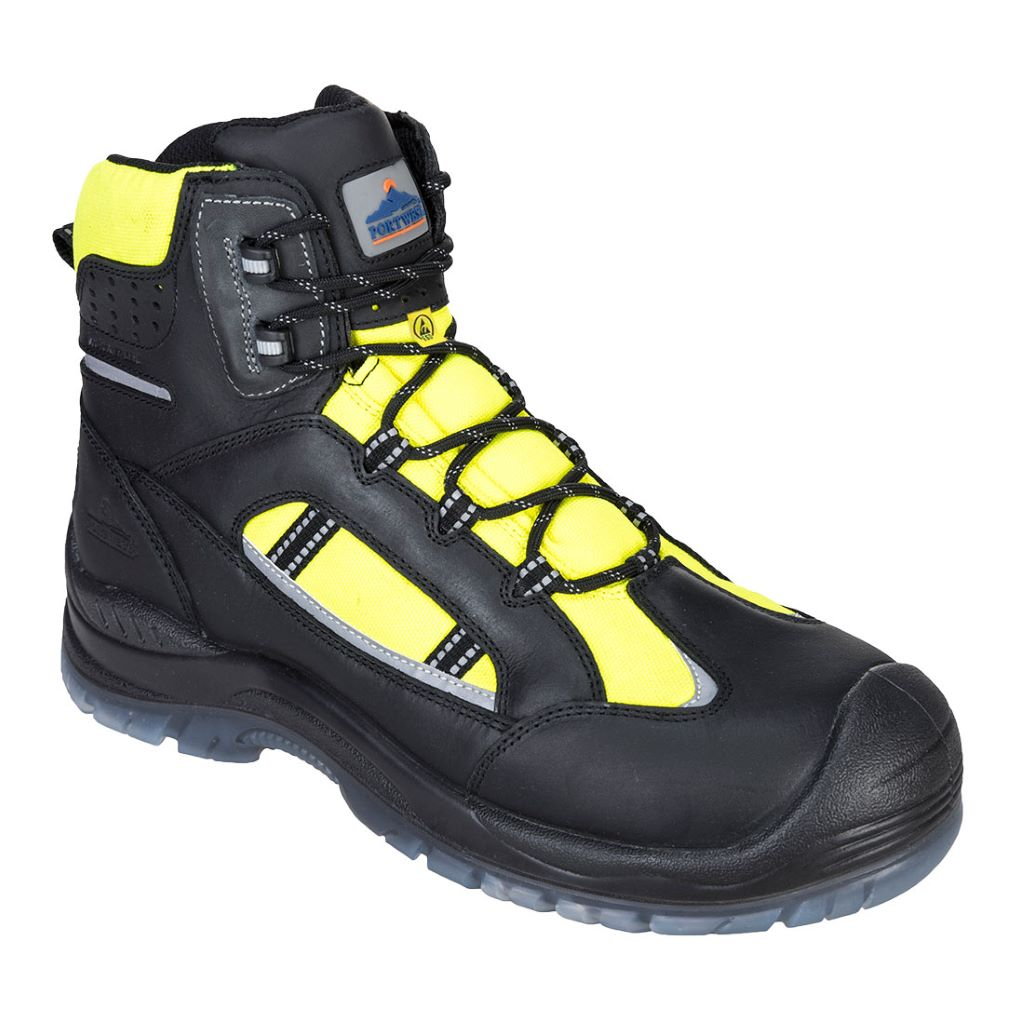Retroglo Hi-Vis Boot  S3 FC59 Yellow