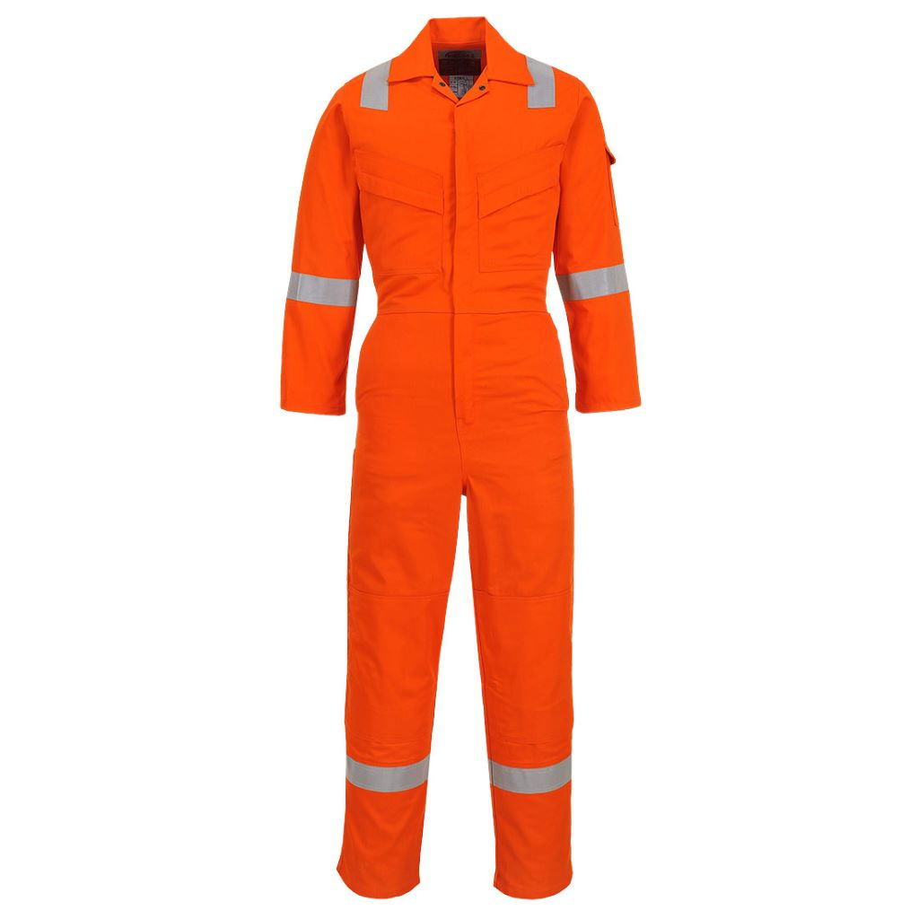 Lightweight Antistat. Coverall FR28 Orange