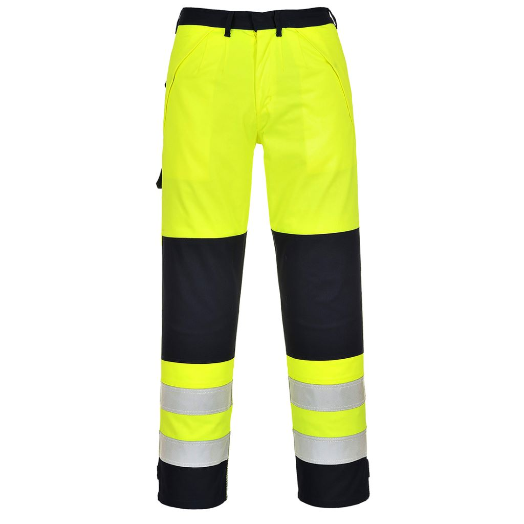 Hi-Vis Multinorm Trousers FR62 YellowNavy