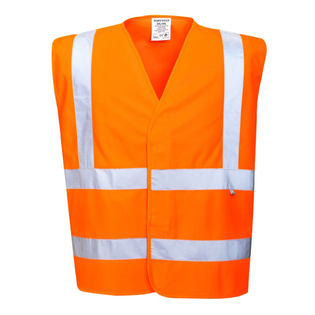 Hi-Vis Vest FR Finish FR70 Orange