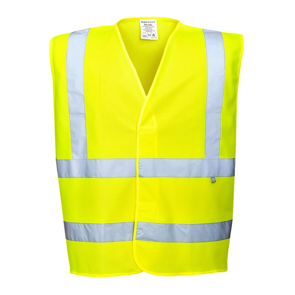 Hi-Vis Vest FR Finish FR70 Yellow
