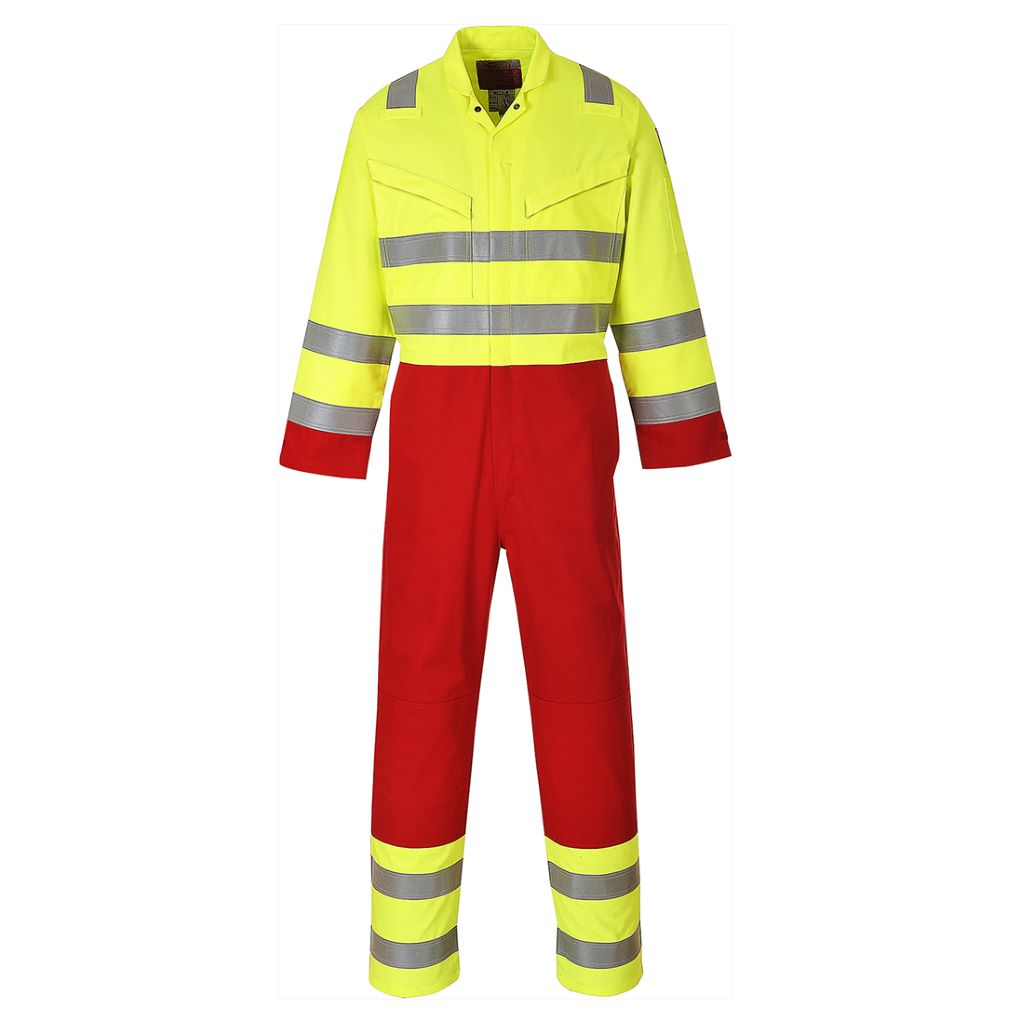 Bizflame Services Coverall FR90 Yellow