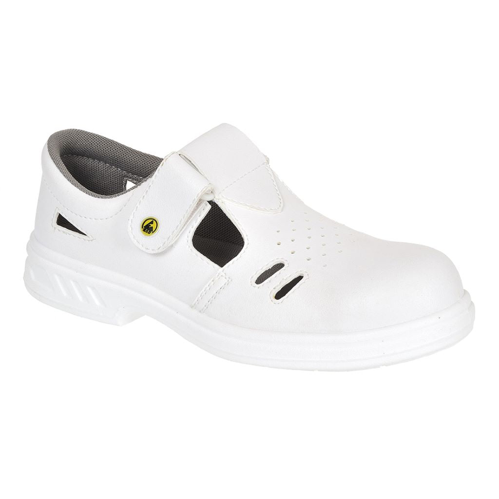 Steelite ESD Safe Sandal S1CL3 FW48 White