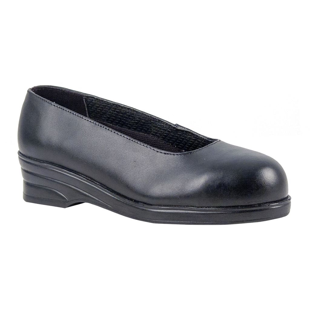Ladies Court Shoe  S1  42/8 FW49 Black