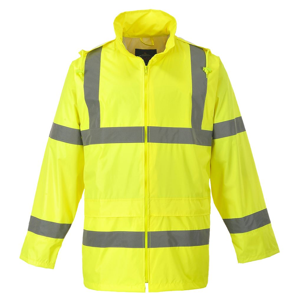 Hi-Vis Rain Jacket H440 Yellow