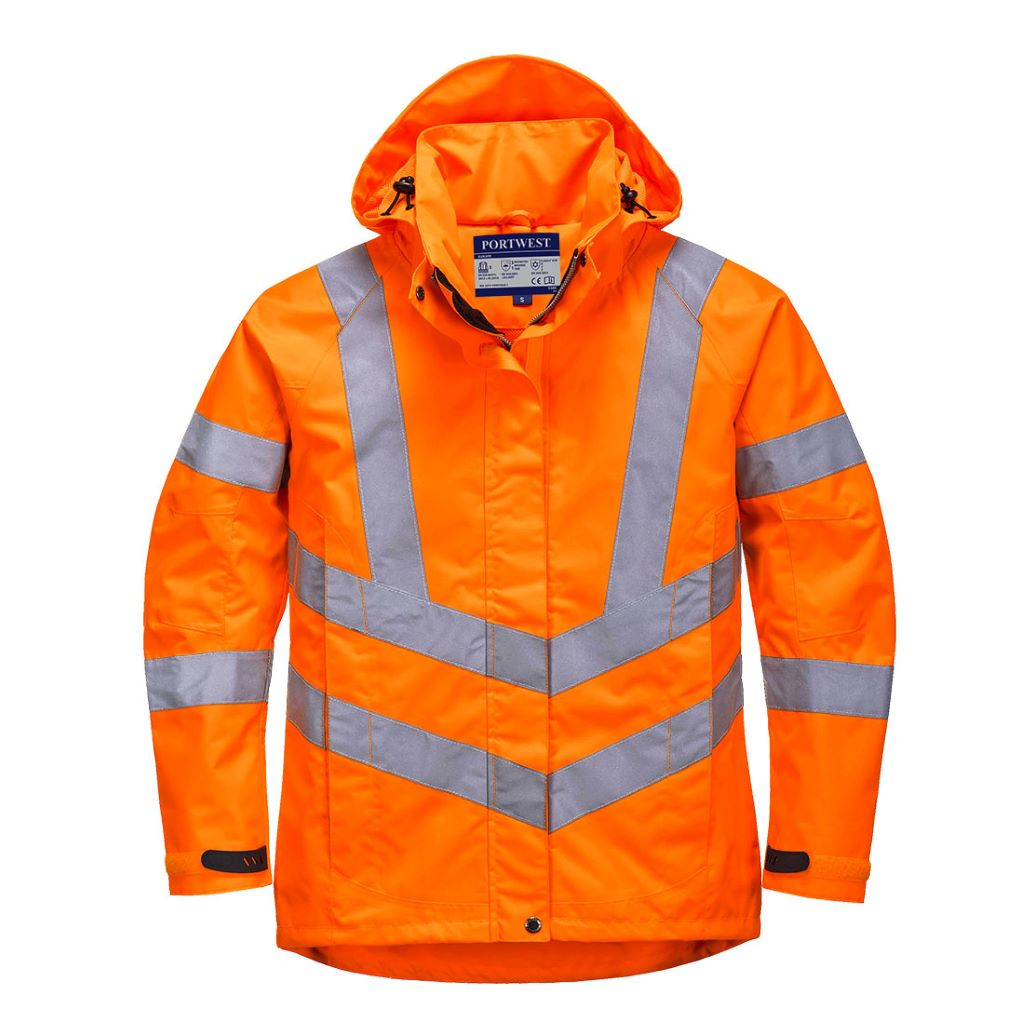 Ladies HiVis Breathable Jacket LW70 Orange