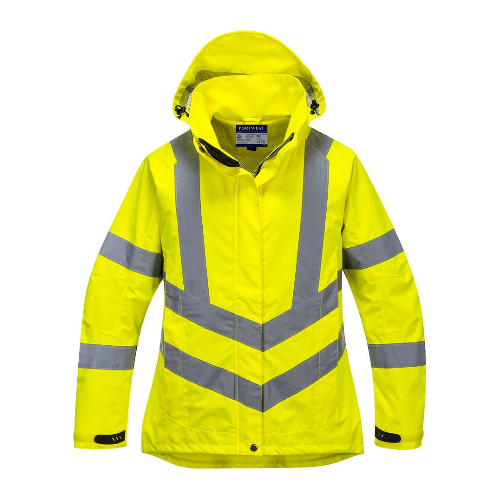 Ladies HiVis Breathable Jacket LW70 Yellow