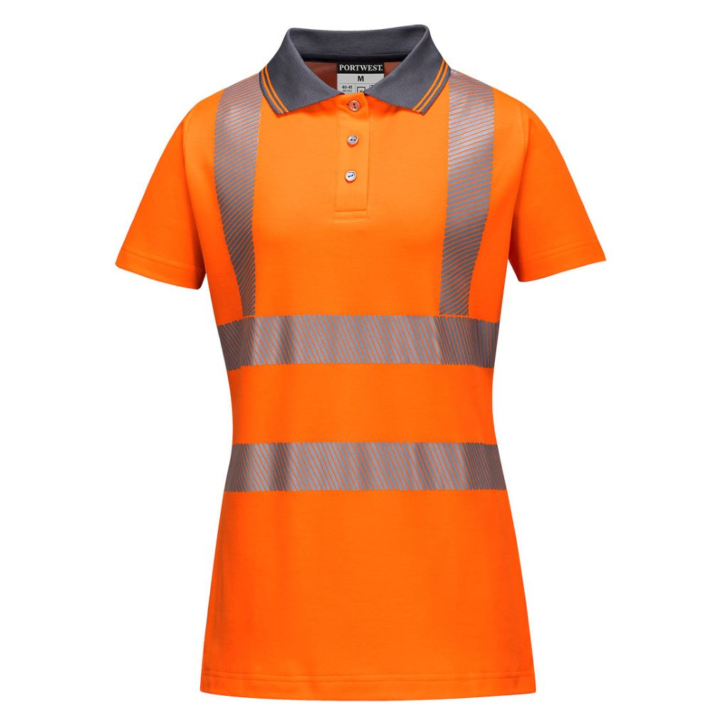 Hi-Vis Ladies Pro Polo Shirt LW72 Orange