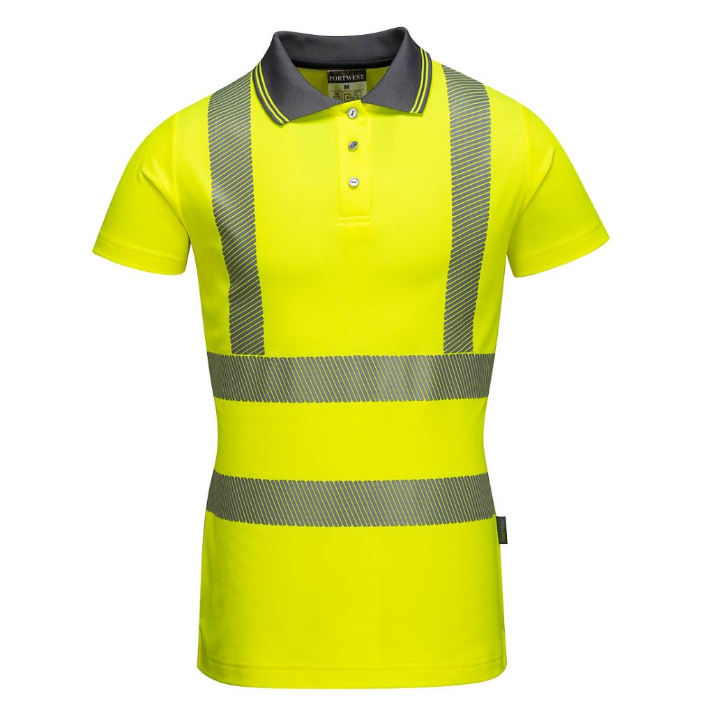 Hi-Vis Ladies Pro Polo Shirt LW72 Yellow