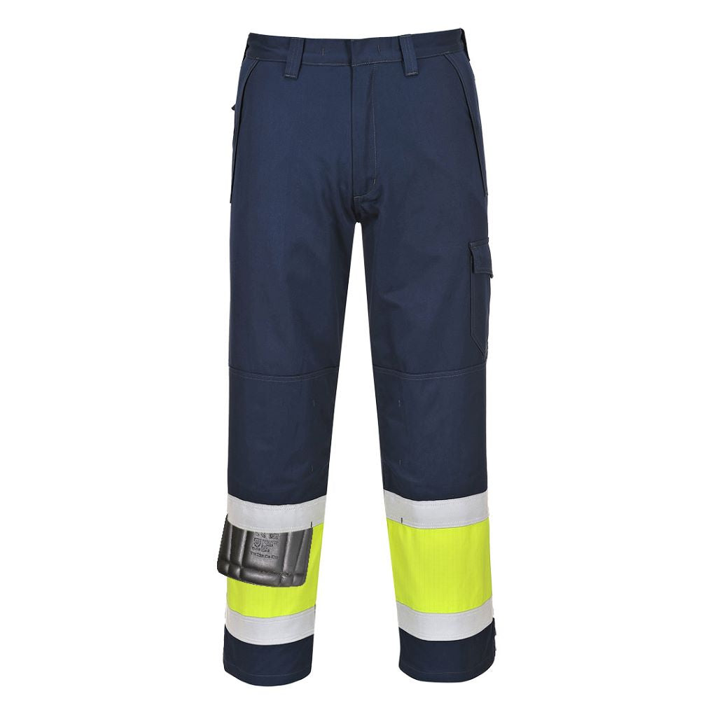 Hi-Vis Modaflame Trousers MV26 YellowNavy