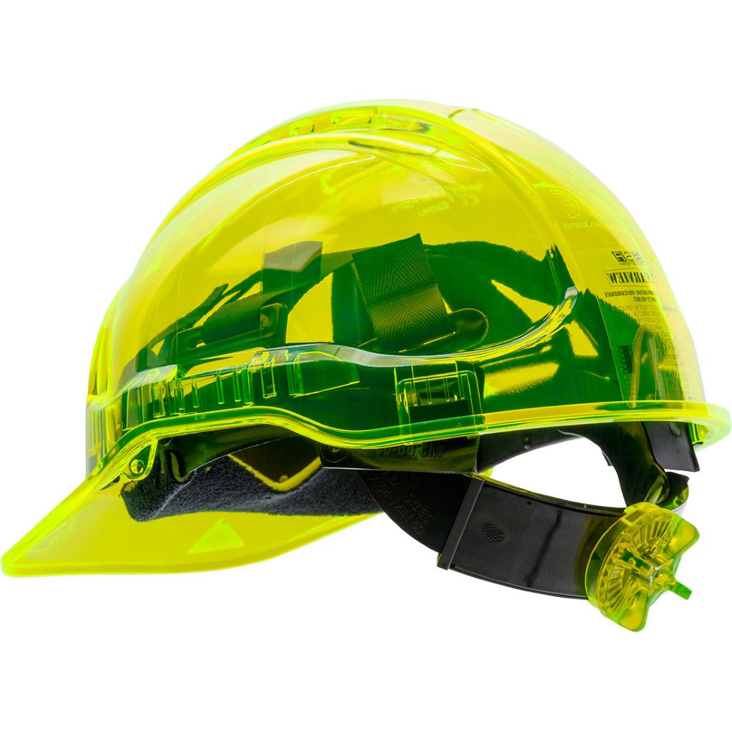 Peak View Ratchet Vent Helmet PV60 Yellow