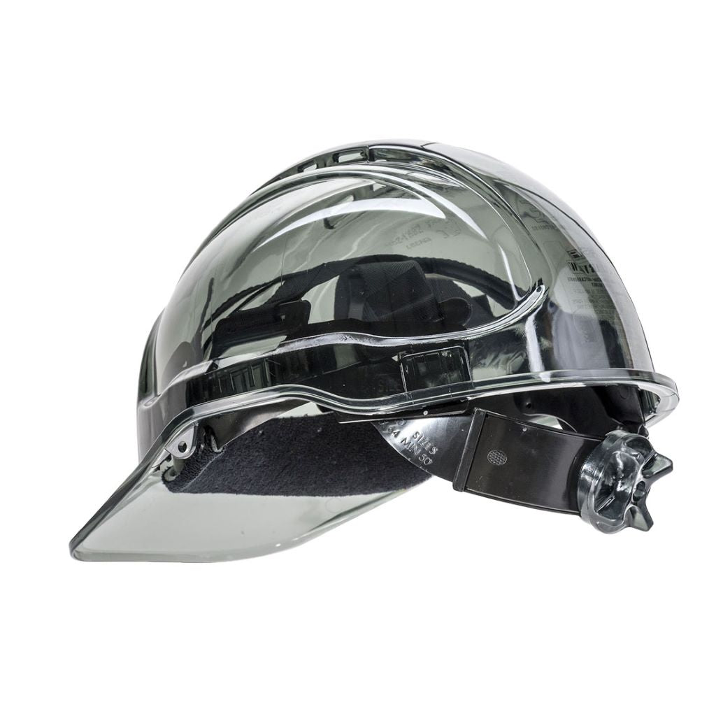 Peak View Ratchet Hard Hat PV64 Smoke