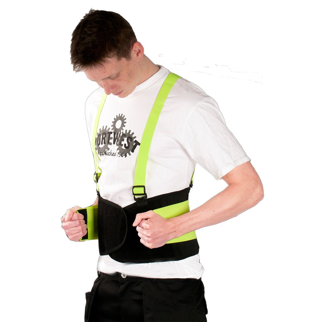 Hi-Vis Support Belt PW81 Green
