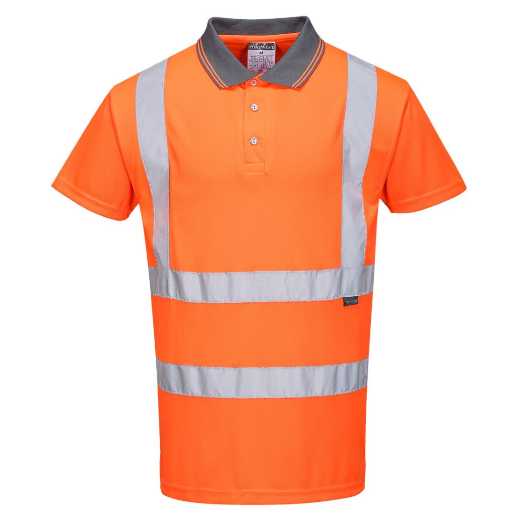 Hi-Vis S/S Polo Shirt RIS RT22 Orange