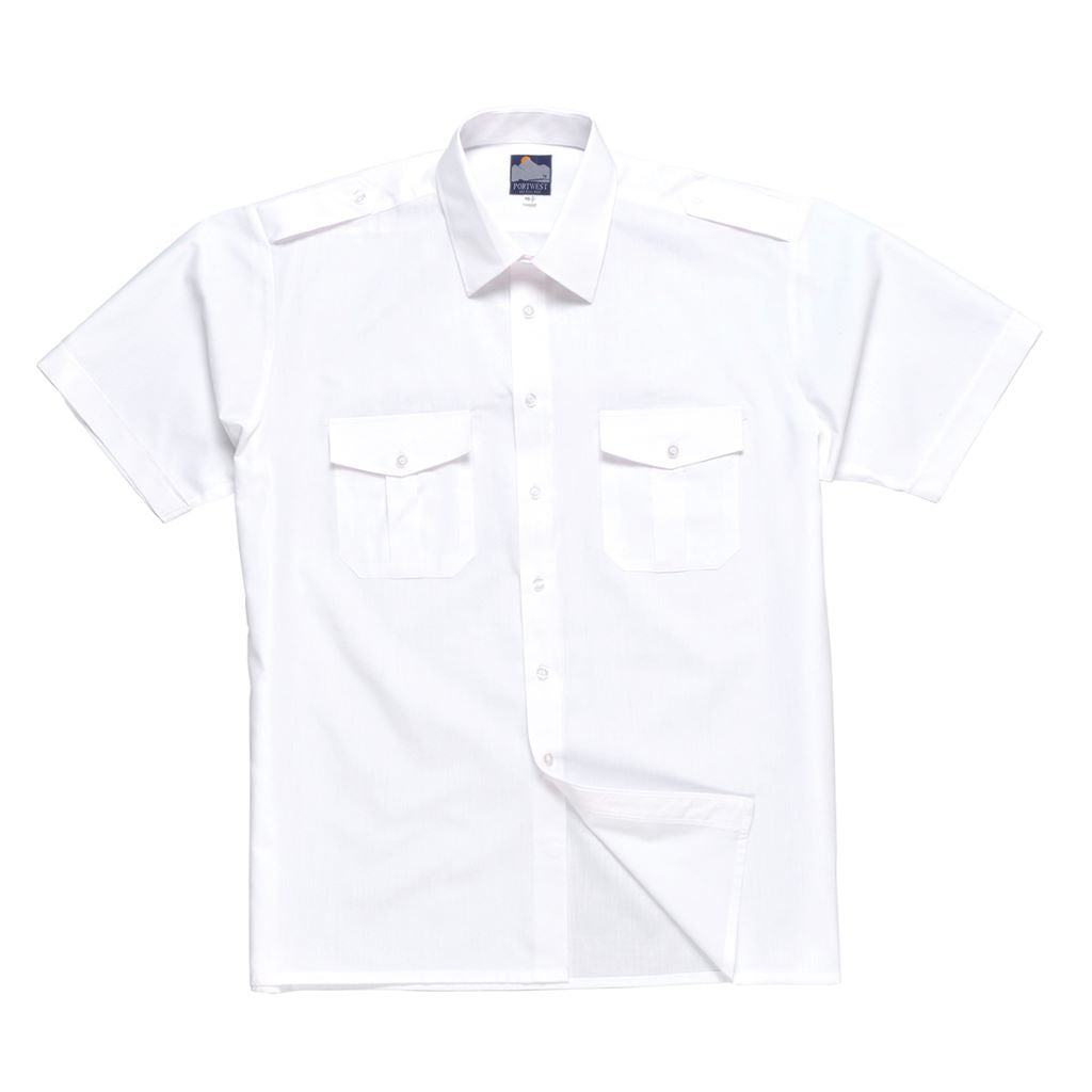 Pilot Shirt Short Sleeve S101 White