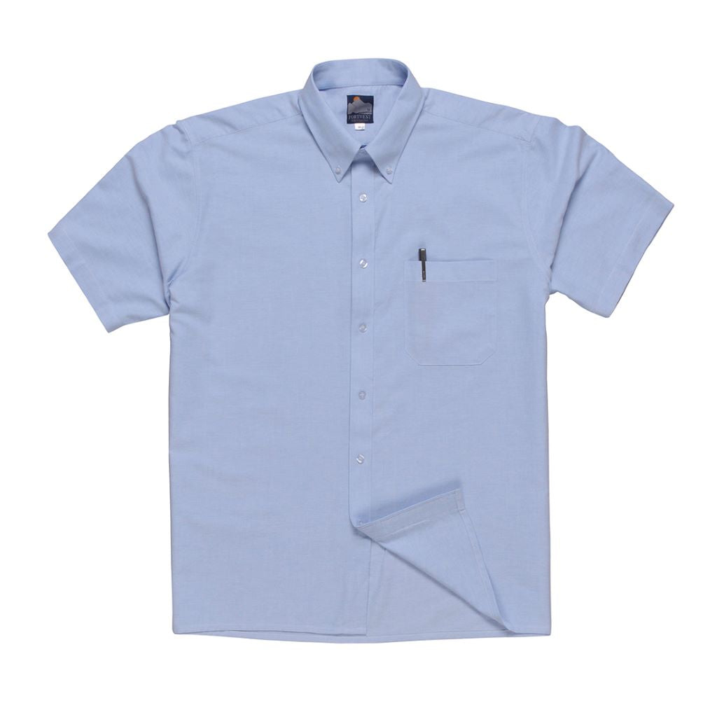 Oxford Shirt Short Sleeve S108 Blue