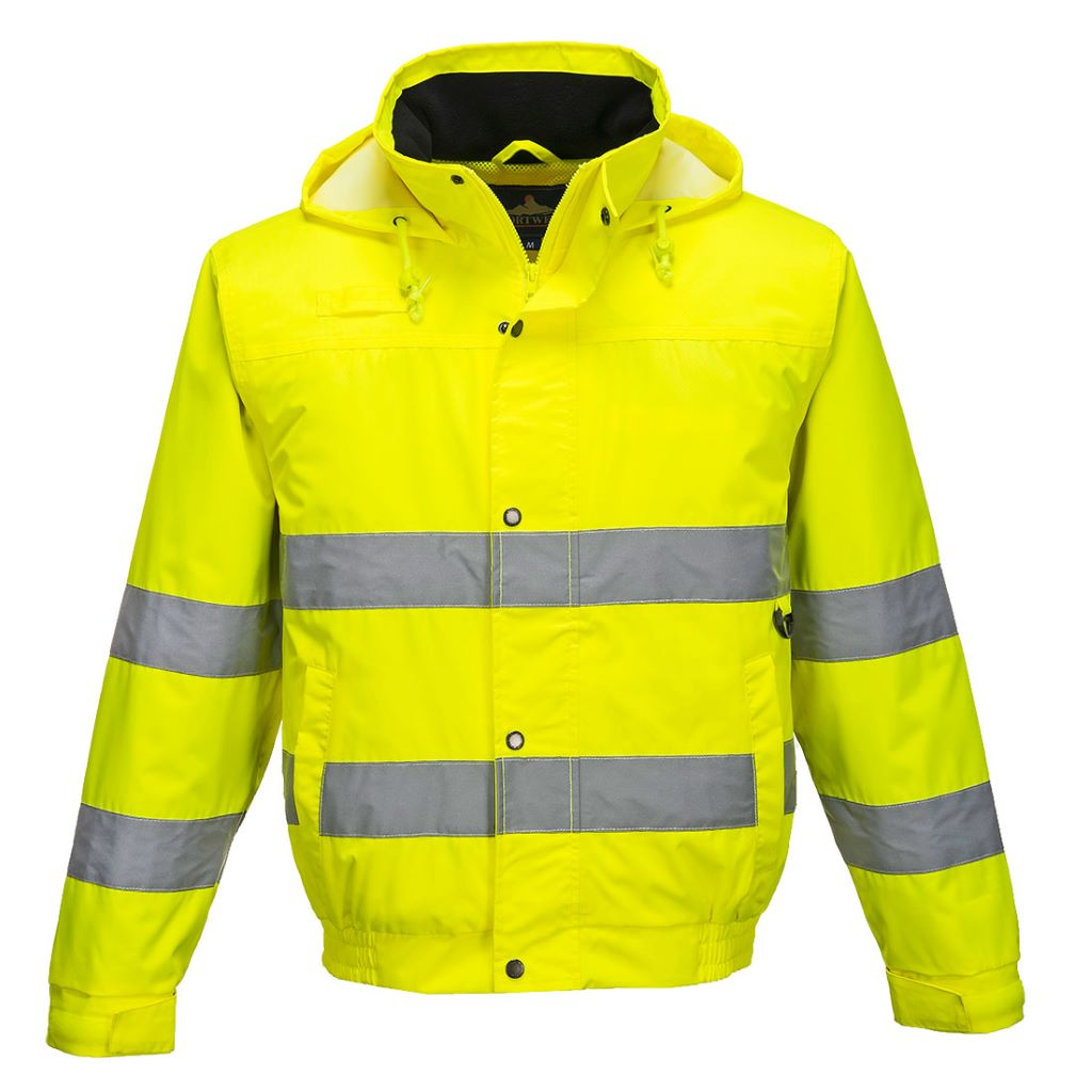 Hi-Vis Lite Bomber Jacket S161 Yellow