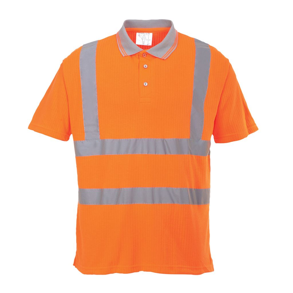Hi-Vis Ribbed Polo Shirt S177 Orange