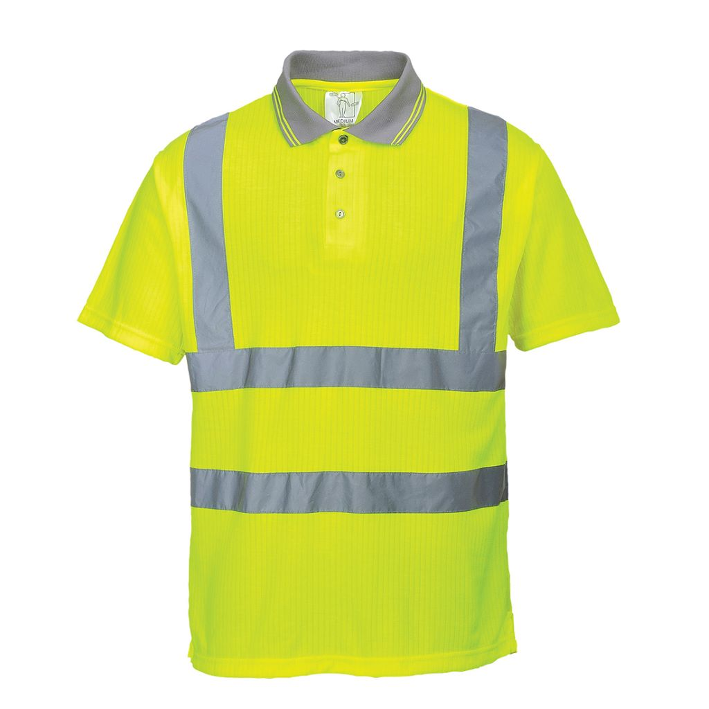 Hi-Vis Ribbed Polo Shirt S177 Yellow