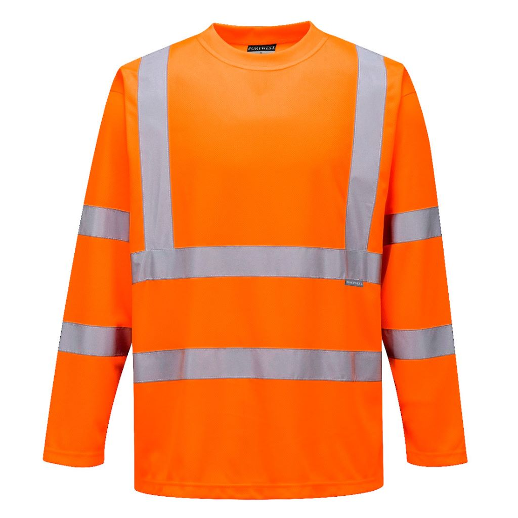 Hi-Vis Long Sleeved T-Shirt S178 Orange