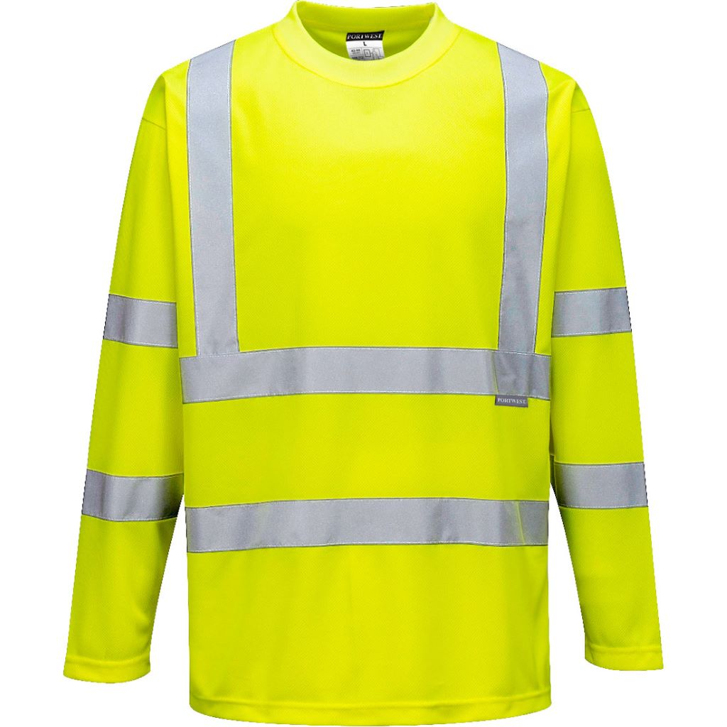 Hi-Vis Long Sleeved T-Shirt S178 Yellow