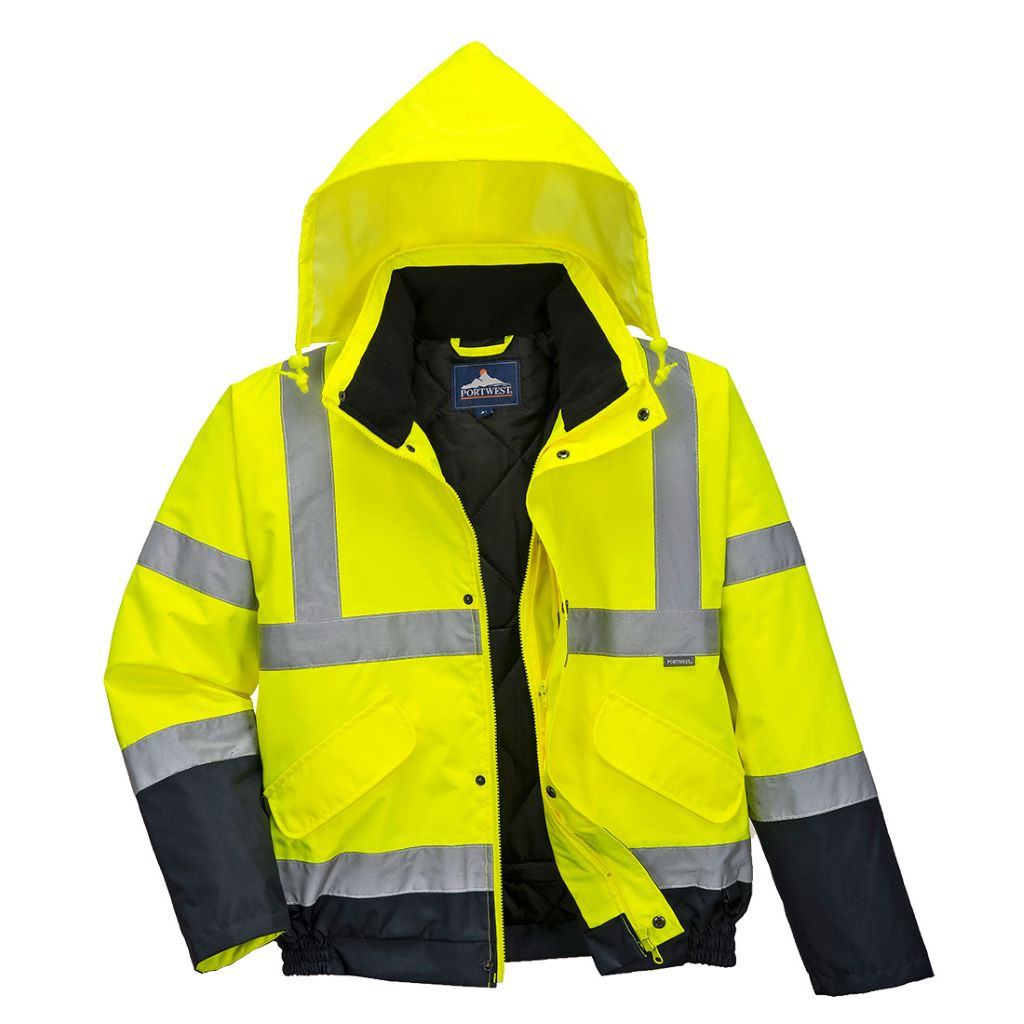 Hi-Vis 2-Tone Bomber Jacket S266 YellowNavy