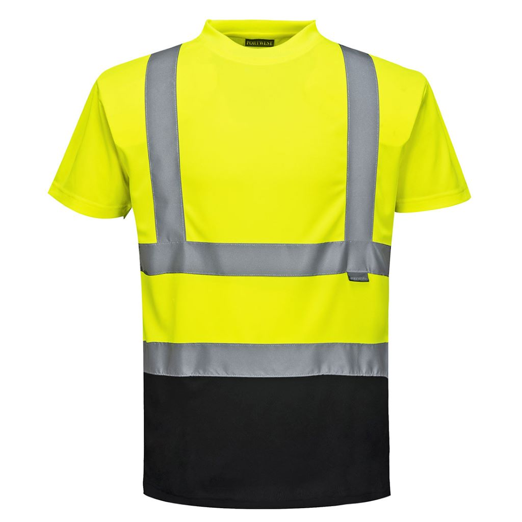 Hi-Vis 2-Tone T-Shirt S378 YellowBlack