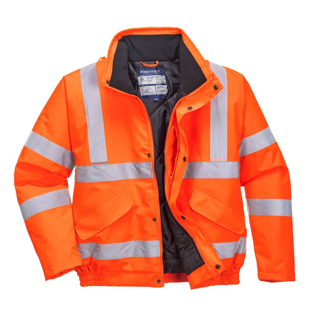 Hi-Vis Bomber Jacket S463 Orange