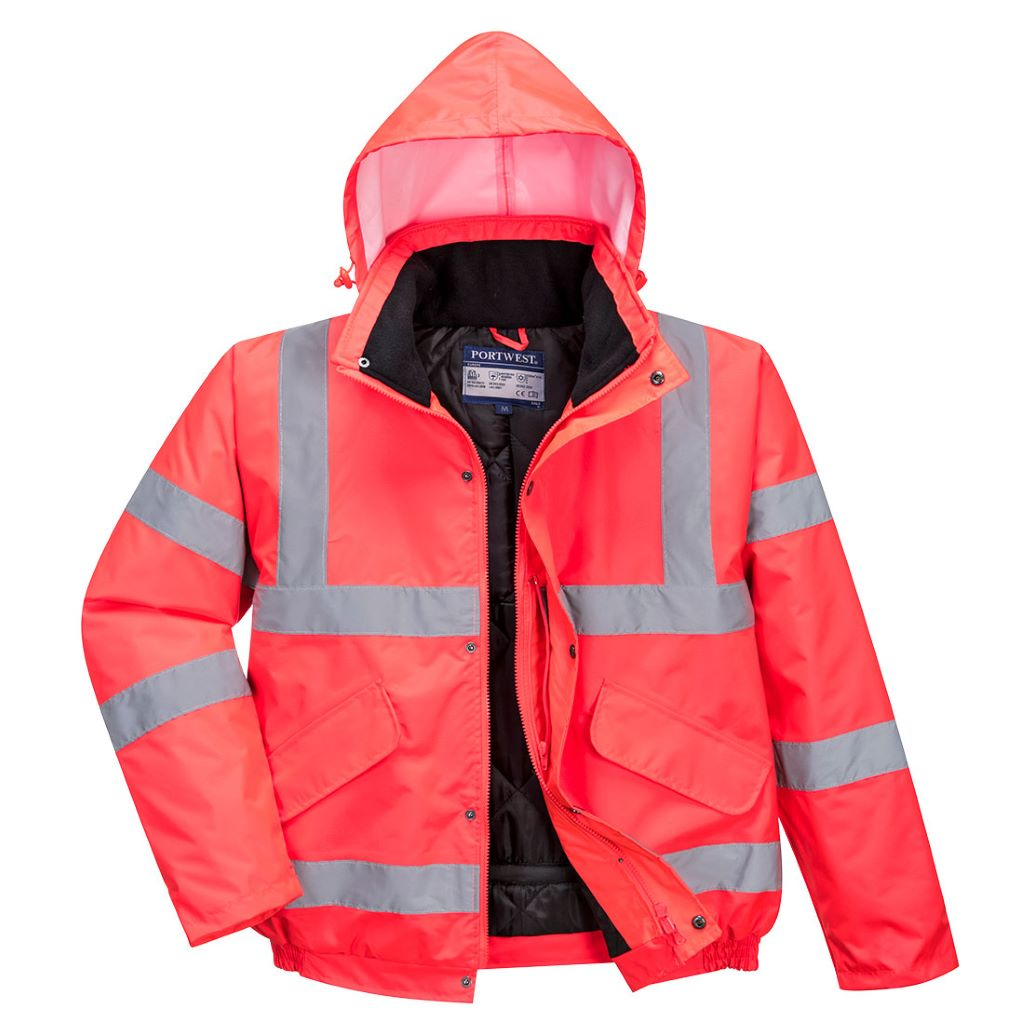 Hi-Vis Bomber Jacket S463 Red
