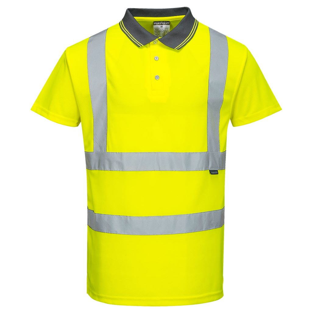 Hi-Vis S/S Polo Shirt S477 Yellow