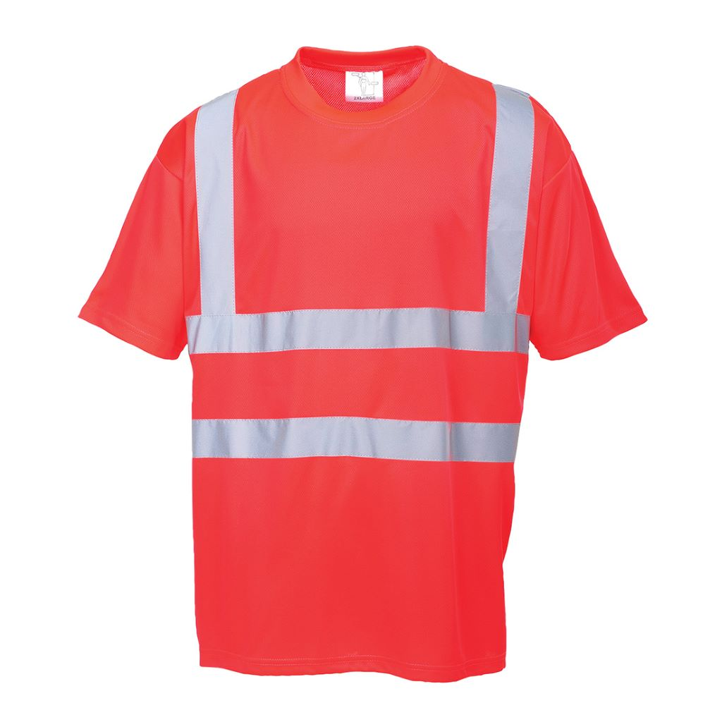 Hi-Vis T Shirt S478 Red