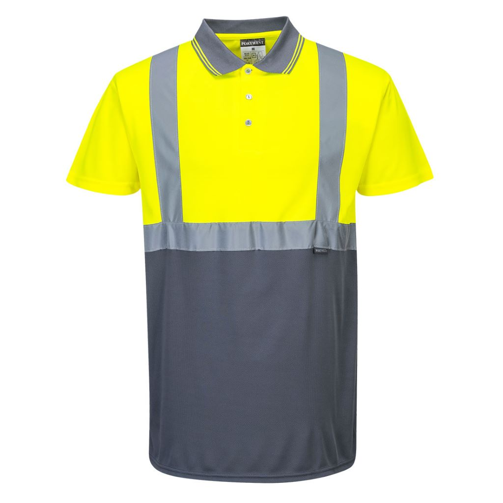 Hi-Vis 2-Tone Polo Shirt S479 YellowGrey