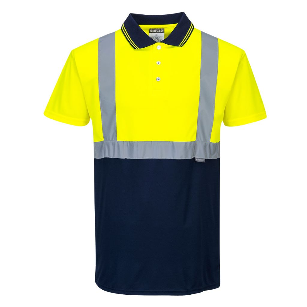 Hi-Vis 2-Tone Polo Shirt S479 YellowNavy