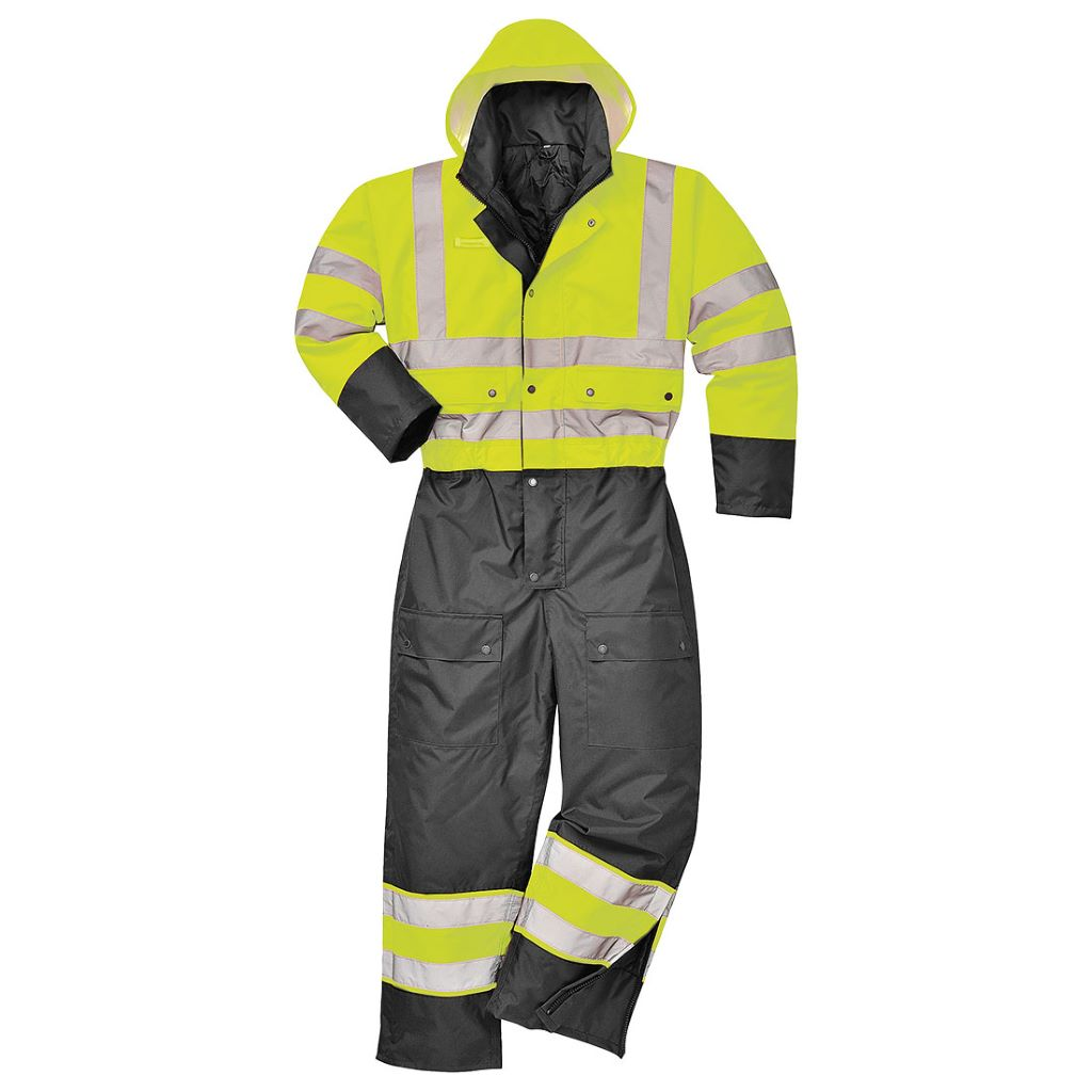 Contrast Coverall Lined S485 YellowBlack
