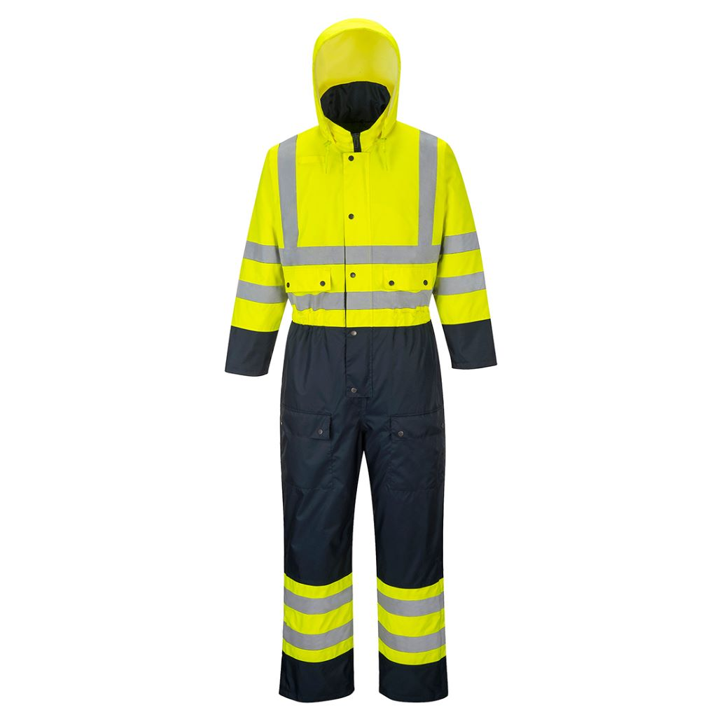 Contrast Coverall Lined S485 YellowNavy