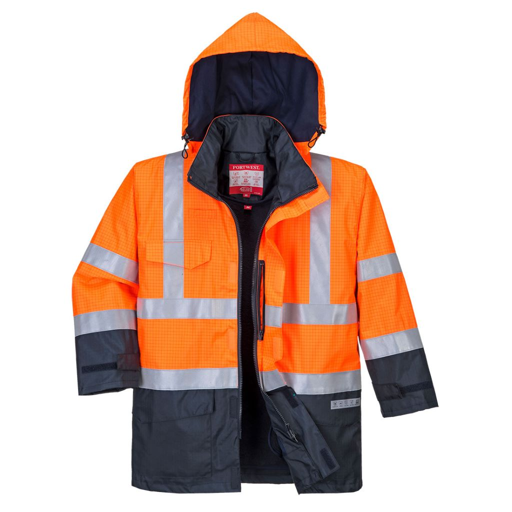 Hi-Vis Multi Protection Jacket S779 OrangeNavy