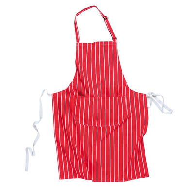 Butchers Apron w. Pocket S855 Red