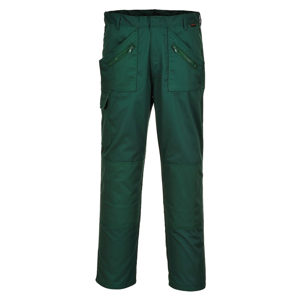 Action Trousers S887 BottleGreen