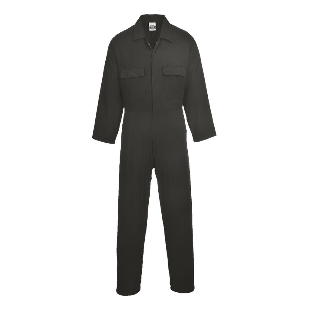 Euro Cotton Boilersuit S998 Black