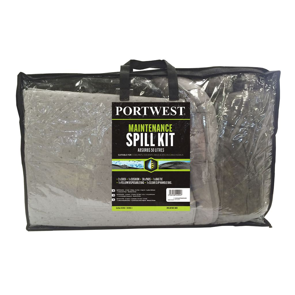Spill Maintenance Kit 50L  Pk3 SM31 Grey