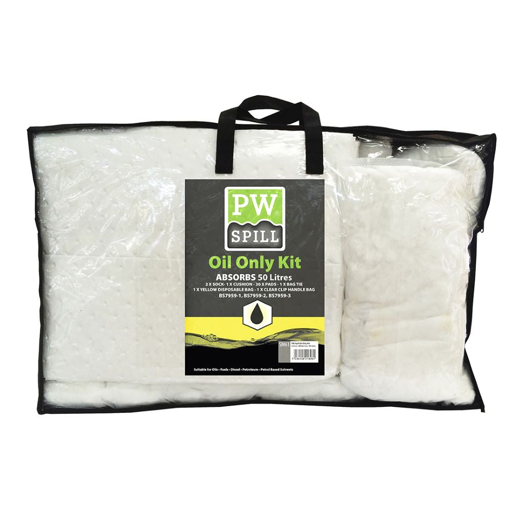 Oil Only Spill Kit 50L  (Pk3) SM61 White