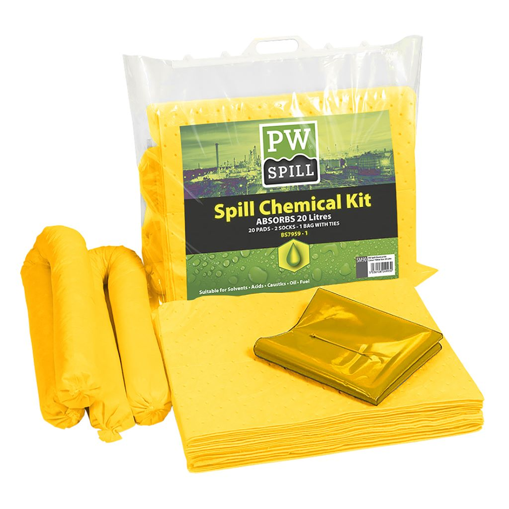Spill Chemical Kit 20L  (Pk6) SM90 Yellow